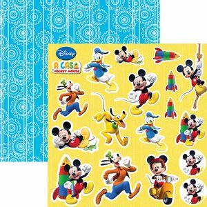 Papel-Scrapbook-Dupla-Face-305x305cm-A-Casa-do-Mickey-2-Recortes-SDFD-104---Toke-e-Crie