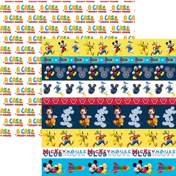 Papel-Scrapbook-Dupla-Face-305x305cm-A-Casa-do-Mickey-2-Faixas-SDFD-105---Toke-e-Crie