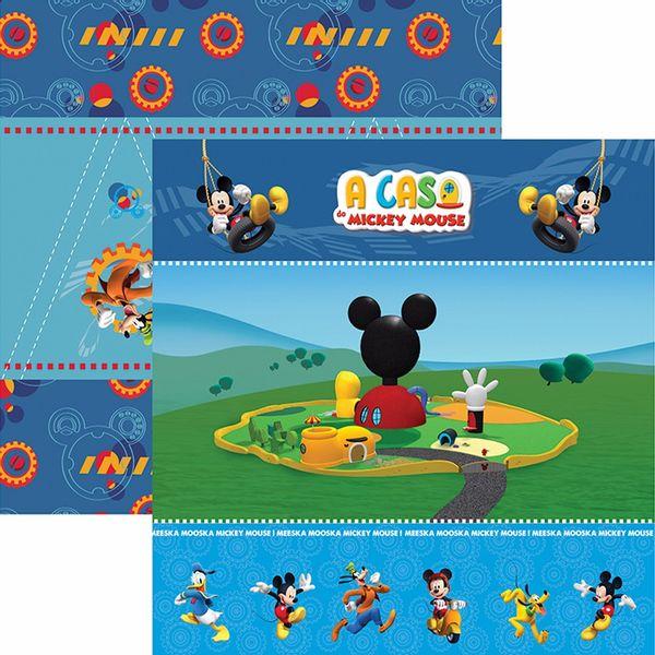 Papel-Scrapbook-Dupla-Face-305x305cm-A-Casa-do-Mickey-1-Cenario-e-Bandeirolas-SDFD-118---Toke-e-Crie