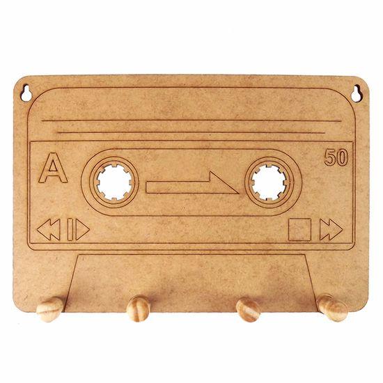 Porta-Chaves-Fita-Cassete-em-MDF-21x14cm---Palacio-da-Arte