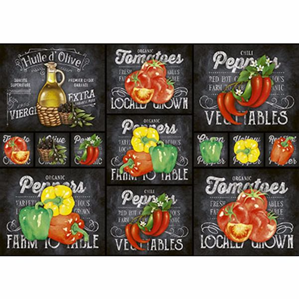 Papel-Decoupage-343x49cm-Legumes-com-Fundo-Preto-PD-416---Litoarte
