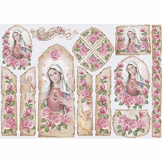 Papel-Decoupage-343x49cm-Sagrado-Coracao-de-Maria---Oratorio-PD-850---Litoarte