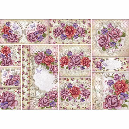 Papel-Decoupage-343x49cm-Flores-Vintage-PD1-050---Litoarte-by-Lili-Negrao