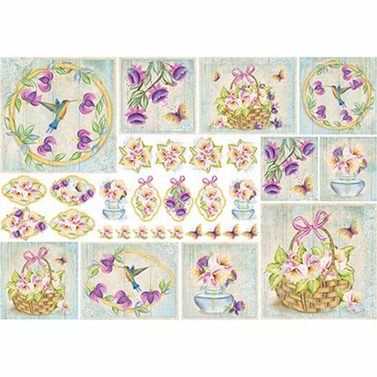 Papel-Decoupage-343x49cm-Brincos-de-Princesa-Beija--Flor-e-Borboletas-PD1-075---Litoarte-by-Lili-Negrao