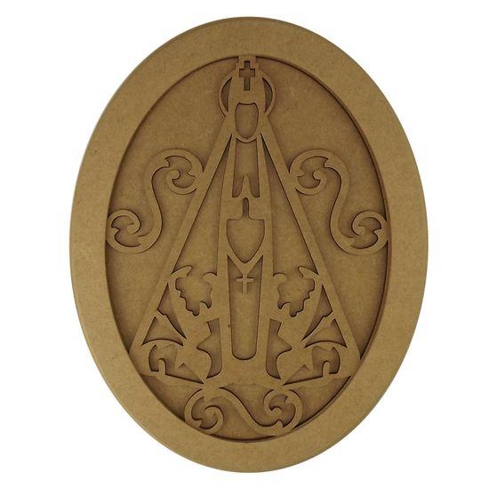 Quadro-Moldura-em-MDF-Oval-Nossa-Senhora-Aparecida-355x27cm---Palacio-da-Arte