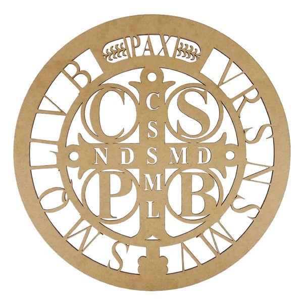 Mandala-Medalha-de-Sao-Bento-em-MDF-35x35cm---Palacio-da-Arte