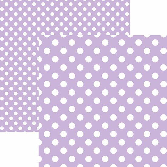 Papel-Scrapbook-Dupla-Face-Basico-305x305cm-Poa-Grande-Lilas-Claro-KFSB476---Toke-e-Crie-by-Mariceli