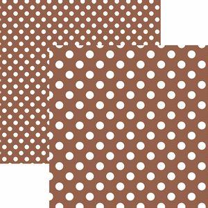 Papel-Scrapbook-Dupla-Face-Basico-305x305cm-Poa-Grande-Marrom-KFSB478---Toke-e-Crie-by-Mariceli