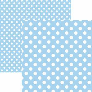 Papel-Scrapbook-Dupla-Face-Basico-305x305cm-Poa-Grande-Azul-Claro-KFSB481---Toke-e-Crie-by-Mariceli