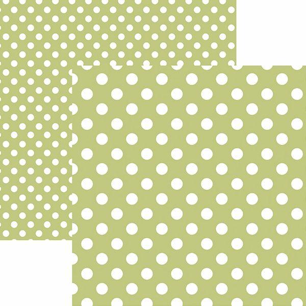 Papel-Scrapbook-Dupla-Face-Basico-305x305cm-Poa-Grande-Verde-Claro-KFSB482---Toke-e-Crie-by-Mariceli