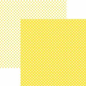 Papel-Scrapbook-Dupla-Face-Basico-305x305cm-Poa-Pequeno-Amarelo-KFSB449---Toke-e-Crie-by-Mariceli