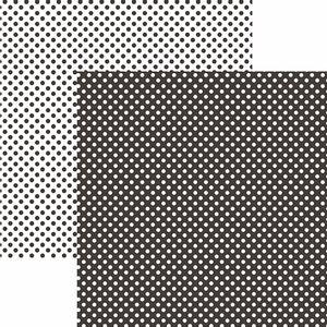 Papel-Scrapbook-Dupla-Face-Basico-305x305cm-Poa-Pequeno-Preto-KFSB453---Toke-e-Crie-by-Mariceli