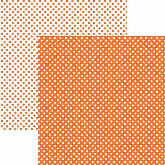 Papel-Scrapbook-Dupla-Face-Basico-305x305cm-Poa-Pequeno-Laranja-KFSB454---Toke-e-Crie-by-Mariceli