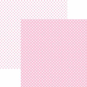 Papel-Scrapbook-Dupla-Face-Basico-305x305cm-Poa-Pequeno-Rosa-Claro-KFSB460---Toke-e-Crie-by-Mariceli