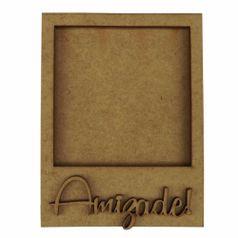 Moldura-Foto-Polaroid---Aplique-Amizade-em-MDF-11x86cm---Palacio-da-Arte
