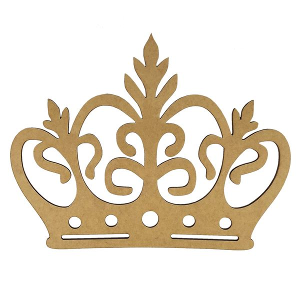 Aplique-Coroa-com-Ramos-em-MDF-20x152cm---Palacio-da-Arte