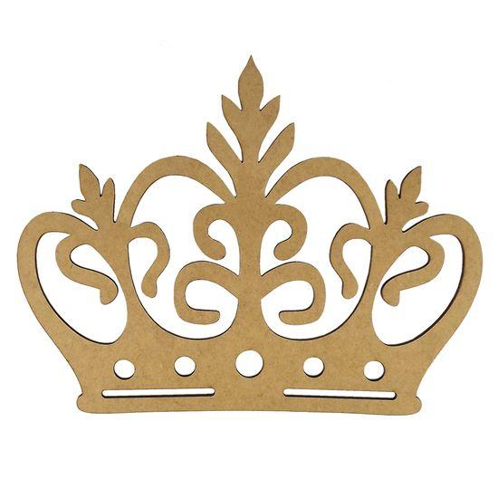 Aplique-Coroa-com-Ramos-em-MDF-25x19cm---Palacio-da-Arte