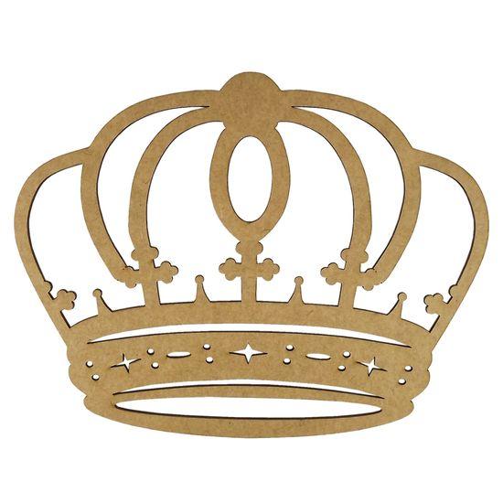 Aplique-Coroa-Arredondada-em-MDF-20x156cm---Palacio-da-Arte