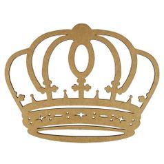 Aplique-Coroa-Arredondada-em-MDF-30x235cm---Palacio-da-Arte