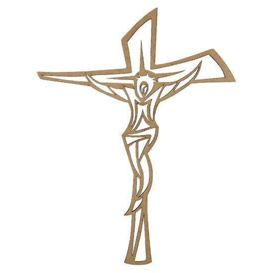 Aplique-Crucifixo-em-MDF-15x113cm---Palacio-da-Arte