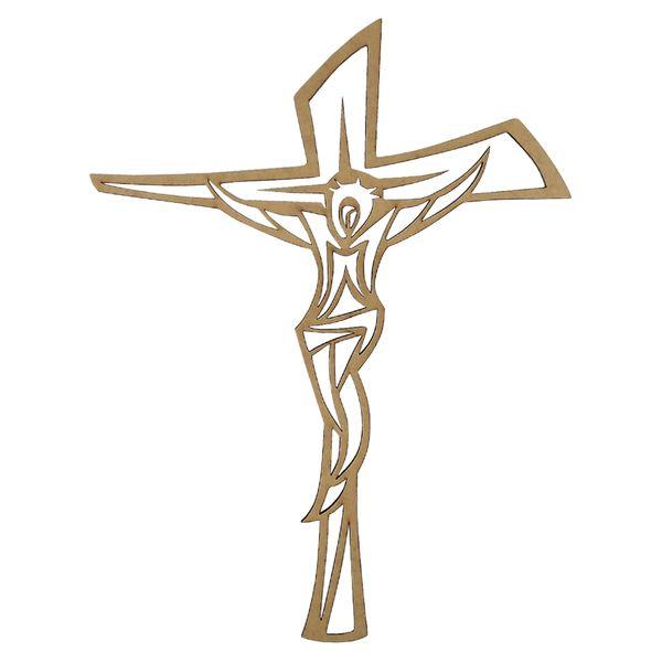 Aplique-Crucifixo-em-MDF-20x15cm---Palacio-da-Arte