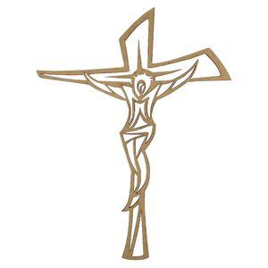 Aplique-Crucifixo-em-MDF-25x19cm---Palacio-da-Arte