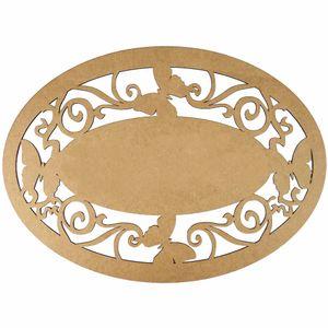 Moldura-em-MDF-Oval-Lisa-40x29cm-Borboletas---Palacio-da-Arte