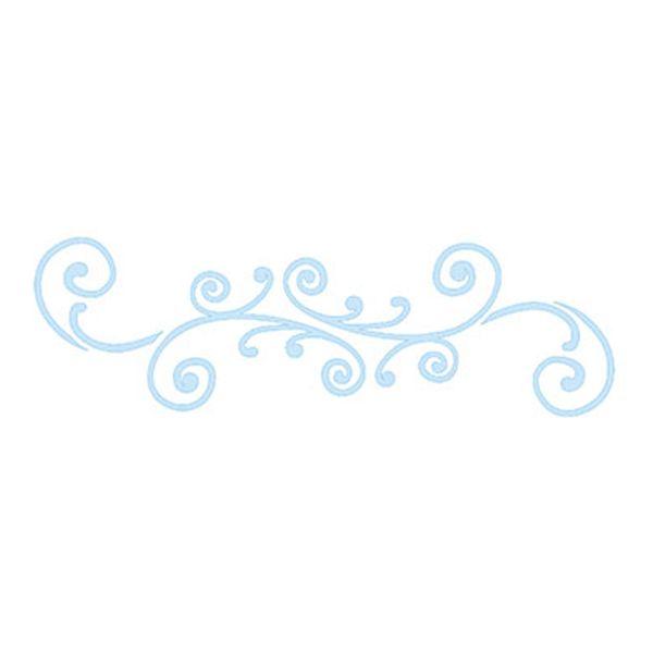 Stencil-para-Pintura-e-Confeitaria-215x6cm-Arabesco-Espiral-SC3-004---Litoarte