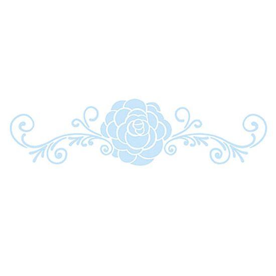 Stencil-para-Pintura-e-Confeitaria-32x10cm-Rosa-e-Arabescos-SC4-004---Litoarte