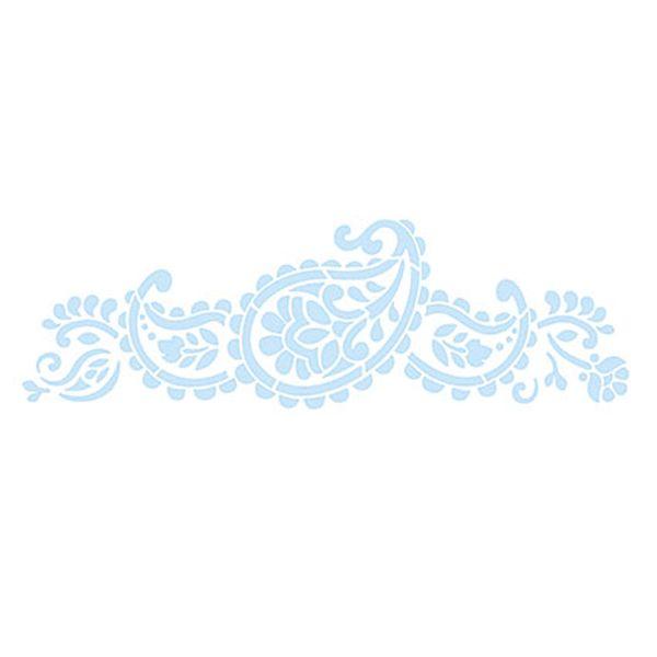 Stencil-para-Pintura-e-Confeitaria-32x10cm-Paisley-SC4-009---Litoarte