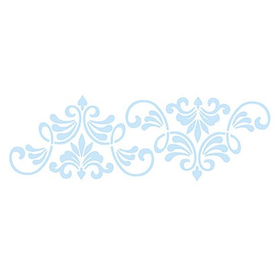 Stencil-para-Pintura-e-Confeitaria-32x10cm-Arabesco-Lanca-SC4-010---Litoarte