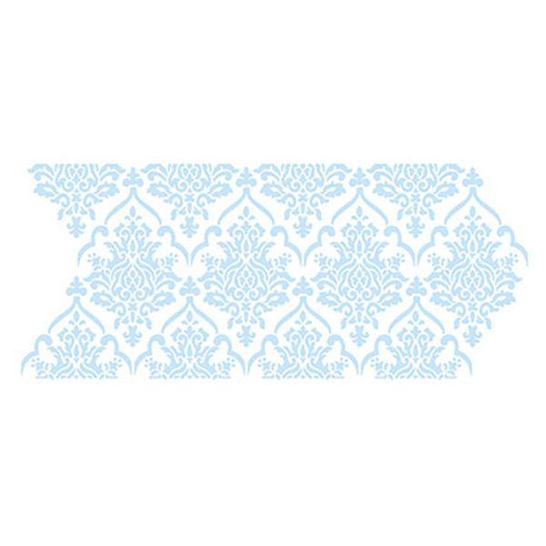 Stencil-para-Pintura-e-Confeitaria-38x15cm-Arabesco-Floral-SC5-005---Litoarte