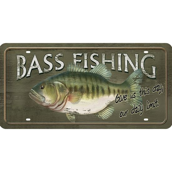 Placa-Decorativa-15x30cm-Bass-Fishing-LPD-066---Litocart