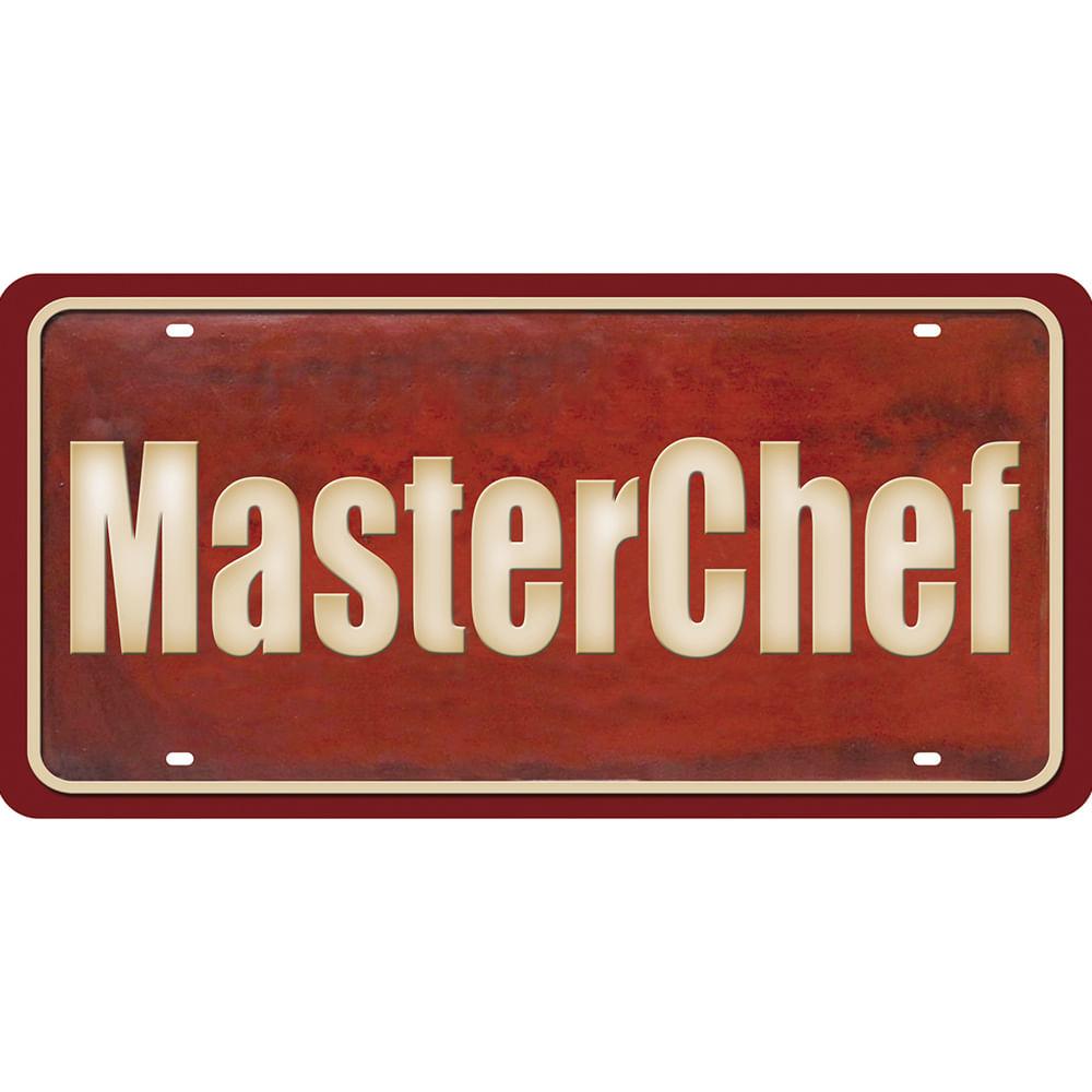 18fd778be Placa Decorativa 15x30cm Master Chef LPD-070 - Litocart - PalacioDaArte