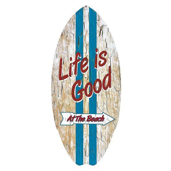 Placa-Decorativa-15x30cm-Life-Is-Good-LPDR-002---Litocart