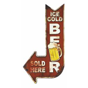 Placa-Decorativa-15x30cm-Ice-Cold-Beer-LPDR-010---Litocart
