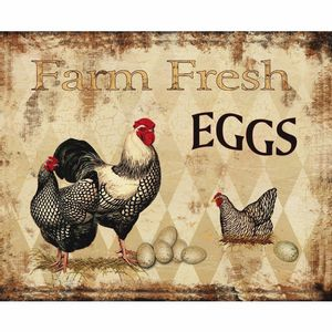 Placa-Decorativa-245x195cm-Farm-Fresh-Eggs-LPMC-068---Litocart