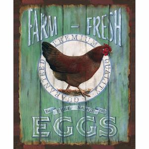 Placa-Decorativa-245x195cm-Farm-Fresh-Eggs-LPMC-069---Litocart
