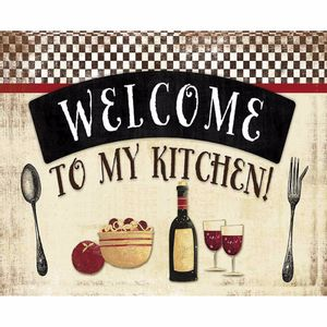 Placa-Decorativa-245x195cm-Welcome-To-My-Kitchen--LPMC-075---Litocart