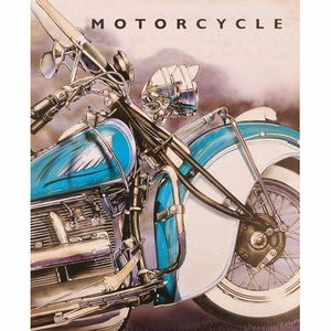 Placa-Decorativa-245x195cm-Motorcycle-LPMC-078---Litocart