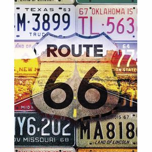 Placa-Decorativa-245x195cm-Route-66-LPMC-080---Litocart