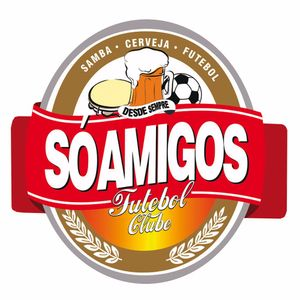 Placa-Decorativa-25x25cm-So-Amigos-Futebol-Clube-LPQC-049---Litocart