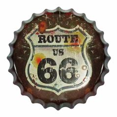 Placa-Decorativa-25x25cm-Route-66-LPQC-024---Litocart