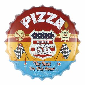 Placa-Decorativa-25x25cm-Route-66-Pizza-LPQC-029---Litocart