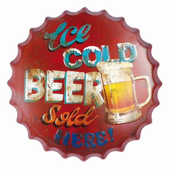 Placa-Decorativa-25x25cm-Ice-Cold-Beer-Sold-LPQC-031---Litocart