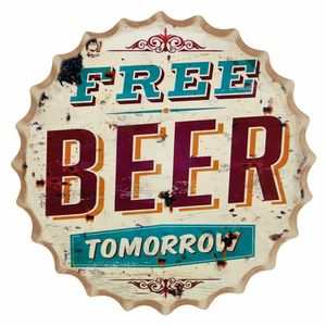 Placa-Decorativa-25x25cm-Free-Beer-Tomorrow-LPQC-032---Litocart