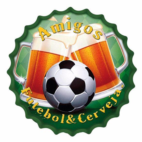 Placa-Decorativa-25x25cm-Amigos-Futebol---Cerveja-LPQC-034---Litocart