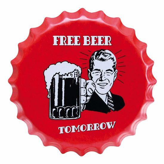 Placa-Decorativa-25x25cm-Free-Beer-Tomorrow-LPQC-035---Litocart