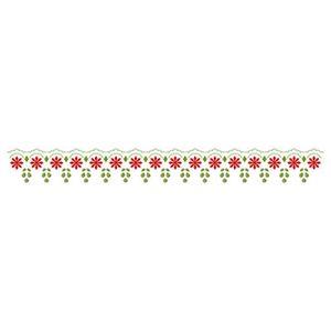 Stencil-para-Pintura-Simples-285x42cm-Renda-Flores-STB-002---Litoarte