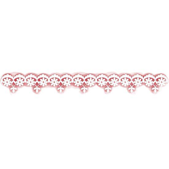 Stencil-para-Pintura-Simples-282X31cm-Rendado-Flores-e-Folhas-STAB-007---Litoarte